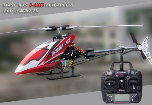 2.4GHz Skyartec WASP X3S 3 AXIS Flybarless plastic 7CH R/C Helicopter!