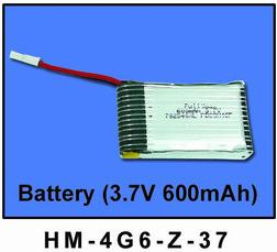 HM-4G6-Z-37: Li-po Battery 3.7V 600mAh