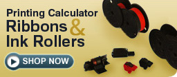 Printing Calculator Ribbons & Ink Rollers