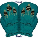 JiffyWink Stirrup Covers, Hoppy Frogs, Blue Peacock