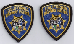 2 Hat Size California Highway Patrol Patches