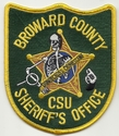Broward County Sheriff's Office CSU Florida Patch