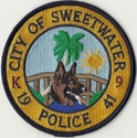 City Of Sweetwater Police K9 Florida Patch