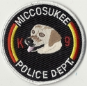 Miccosukee Police Department K9 Labrador Patch