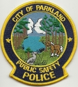 City Of Parkland Public Safety Police Patch