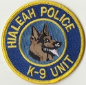 Hialeah Police K9 Unit Florida Patch
