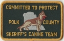 Polk County Sheriff's Canine Team Florida Patch