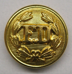 Set of 4 Gold Fire Department Uniform Coat Buttons