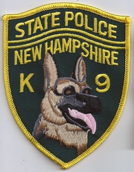 New Hampshire State Police K9 Patch