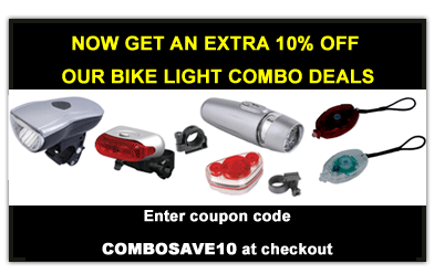 Save 10% on any bicycle light set