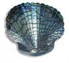 Spectacular Silver Seashell Metal Wall Decor