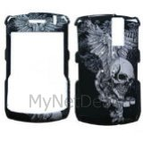 Skull Wing Snap-On Cover Case Protector Faceplate for Blackberry 8300/ 8310/ 8330 Curve