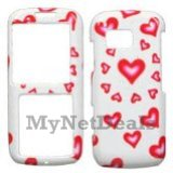 Hearts (Sparkle) Snap-On Cover Case Protector Faceplate for Samsung M540 Rant