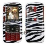 Zebra Skin Snap-On Cover Case Protector Faceplate for Samsung M540 Rant