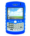 Kroo Silicone Protective Carrying Case For Blackberry Curve 8300 with Clip-Blue