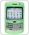 Kroo Silicone Protective Carrying Case For Blackberry Curve 8300 with Clip-Green