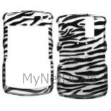 2D Zebra Skin(Silver) Snap-On Cover Case Protector Faceplate for Blackberry 8300/ 8310/ 8330 Curve