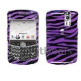 Zebra Skin (Purple) Snap-On Cover Case Protector Faceplate for Blackberry 8300/ 8310/ 8330 Curve