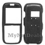 Carbon Fiber Snap-On Cover Case Protector Faceplate for LG LX260 Rumor