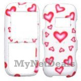 Hearts (Sparkle) Snap-On Cover Case Protector Faceplate for LG LX260 Rumor