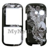 Skull Wing Snap-On Cover Case Protector Faceplate for LG Rumor2/ LX265