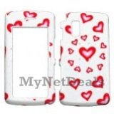 Hearts (Sparkle) Snap-On Cover Case Protector Faceplate for LG Vu CU920/ CU915