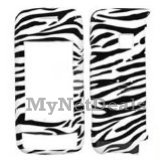 Zebra Skin Snap-On Cover Case Protector Faceplate for LG VX10000 Voyager