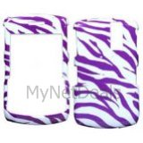 Zebra Skin(White/ Purple) Snap-On Cover Case Protector Faceplate for Blackberry 8300/ 8310/ 8330 Curve