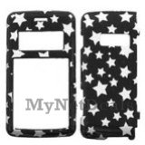 White Star/ Black(Sparkle) Snap-On Cover Case Protector Faceplate for LG enV2 (VX9100)
