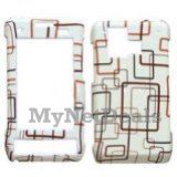 Beige Pattern Snap-On Cover Case Protector Faceplate for LG VX9700 Dare