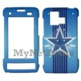 Blue Star Snap-On Cover Case Protector Faceplate for LG VX9700 Dare