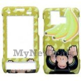 Yellow Monkey Snap-On Cover Case Protector Faceplate for LG VX9700 Dare
