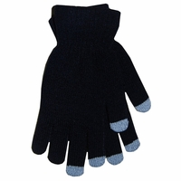 Boss Tech Cashmere Knit Touchscreen Gloves - Black