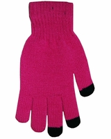 Boss Tech Touch Screen Gloves Hot Pink w/ Black Tips