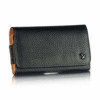 Luxmo Universal Horizontal Leather Pouch - Black