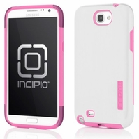 Incipio DualPro Shine Case for Samsung Galaxy Note II 2 - White / Pink