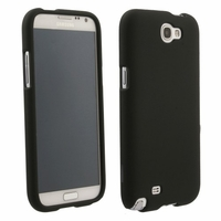 Rubberized Protective Case for Samsung Galaxy Note II 2 - Black