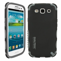 DualTek Extreme Shock Case + Shield for Samsung Galaxy S III 3 - Black/Gray