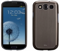 Case-Mate Barely There Faux Brushed Aluminum Case for Samsung Galaxy S III 3 - Silver