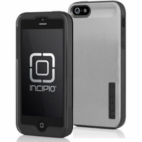Incipio DualPro Shine Case for iPhone 5 - Black and Silver