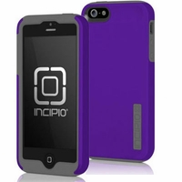 Apple iPhone 5 Incipio Silicrylic DualPRO - Violet and Gray