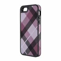 Speck - FabShell Case iPhone 5 MegaPlaid Mulberry/Black