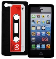 Silicone Case Cassette Design for Apple iPhone 5 - Black