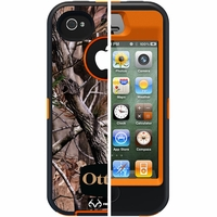 Otterbox Apple iPhone 4/4S Orange/Black Camo All Purpose Defender Case