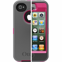 Otterbox Apple iPhone 4/4S Grey/Pink Defender Case