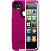 Otterbox Apple iPhone 4/4S White/Hot Pink Commuter Case