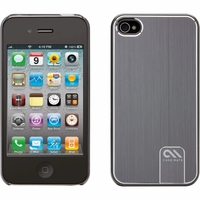 Case-Mate Silver Barely There Brushed Aluminum Case for Apple iPhone 4 / 4S - Silver