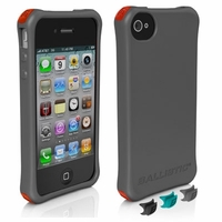 Ballistic Smooth Series Case for Apple iPhone 4 / 4S - Charcoal Gray