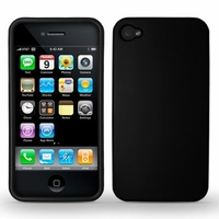 Rubber Protector Case for Apple iPhone 4 / 4s - Black
