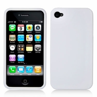 Rubber Protector Case for Apple iPhone 4 / 4s - White